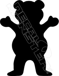 Teddy Bear Silhouette Decal Sticker