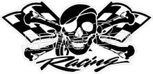 skull racing skull decal decalmonster com