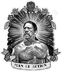 Danny Trejo Man of Action Decal Sticker