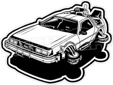 Back to the Future Movie Delorean Time Machine Car Decal Sticker