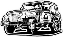 Jurassik Park Movie Jeep Decal Sticker