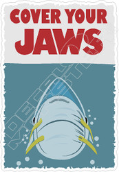 Cover Your Jaws Movie Decal Sticker