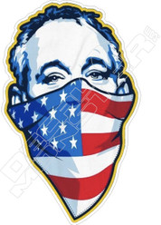Masked Bill Murray Funny Decal Sticker
