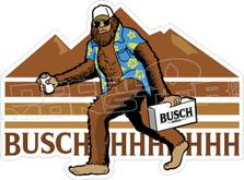 Busch Beer Big Foot Decal Sticker