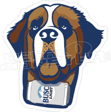 Busch Light Beer Saint Bernard Dog Decal Sticker