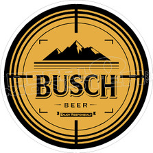 Busch Beer Hunting Scope Decal Sticker