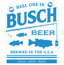 Reel one in Fishing Busch Beer Decal Sticker