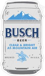 Busch Beer Can Decal Sticker
