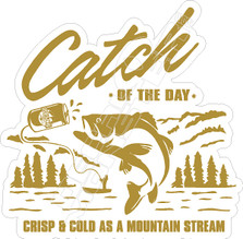 Busch Beer Catch of the Day Fishing Decal Sticker