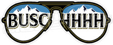 Busch Beer Glasses Decal Sticker