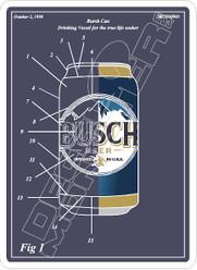 Busch Beer Schematic Blueprint Decal Sticker
