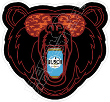 Busch Beer Bear Decal Sticker