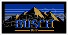Busch Beer Mountains Decal Sticker
