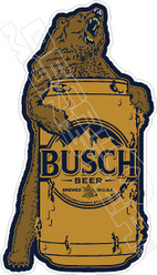 Busch Beer Bear Hug Decal Sticker
