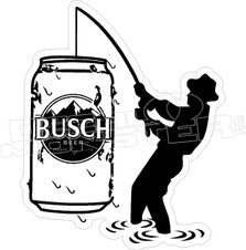 Busch Beer Fisherman Decal Sticker