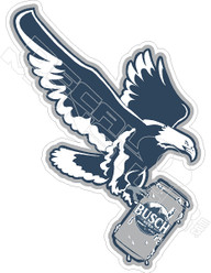 Busch Beer Eagle Decal Sticker