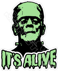 It's Alive Frankenstein Decal Sticker