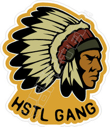 HSTL Hustle Gang Decal Sticker