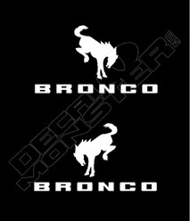 Ford Bronco Logo New Decal Sticker