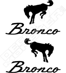 Ford Bronco Logo Vintage Decal Sticker
