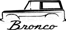 Ford Bronco Vintage 1 Decal Sticker