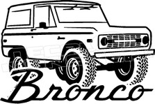 Ford Ford Bronco Vintage 3 Decal Sticker