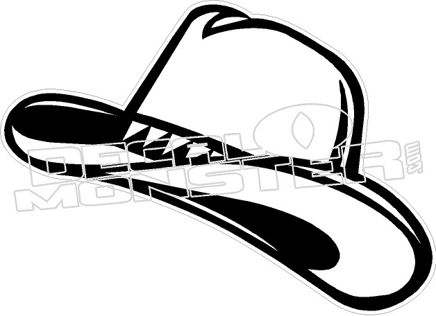 d519dd32 Cowboy Hat Western decal