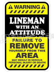 Lineman Attitude Decal