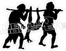 Caveman Hunting - Hunting Decal