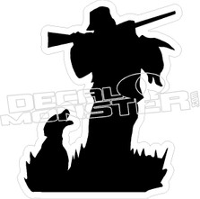 Hunter with Dog - Hunting Decal