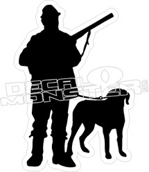 Hunter and His Dog - Hunting sticker