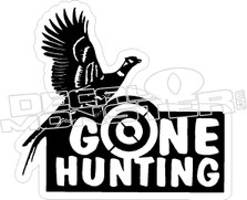 Gone Hunting - Hunting stickers