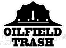 Oilfield Trash Hat Decal
