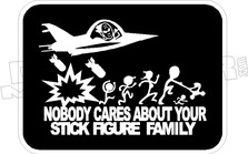 Bomb Stick Figure Family Decal