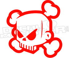 Punisher Skull 3D Cartoon Decal