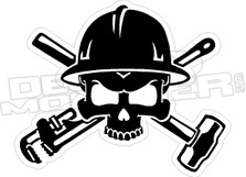 Pipewrench Sledge Hammer Skull Decal