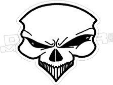 Alien Skull 2 Decal