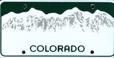 Colorado State Auto Plate