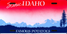 Idaho State Auto Plate