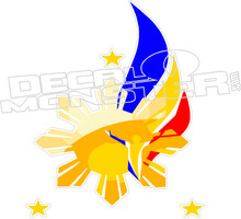 Philippines Flag Art Decal DM