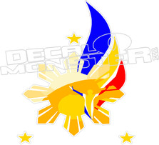 Philippines Flag Art Decal DM
