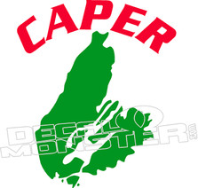 Caper Decal Outline Wording