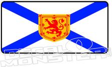 Nova Scotia Flag Decal Plate DM