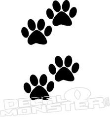 Dog Paws Pet Decal DM
