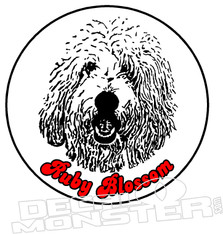 Golden Doodle Dog Name Pet Decal DM