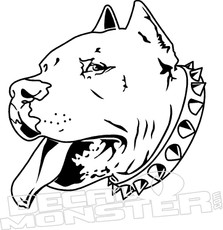 Pit Bull Dog Pet Decal DM