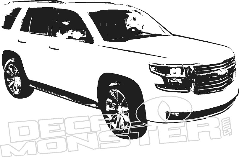 chevy tahoe silhouette wall decal dm