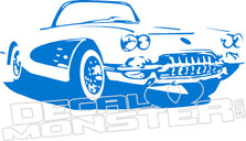 Corvette2 Silhouette Wall Decal DM