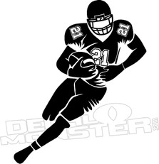 Football Player Wall Decal DM