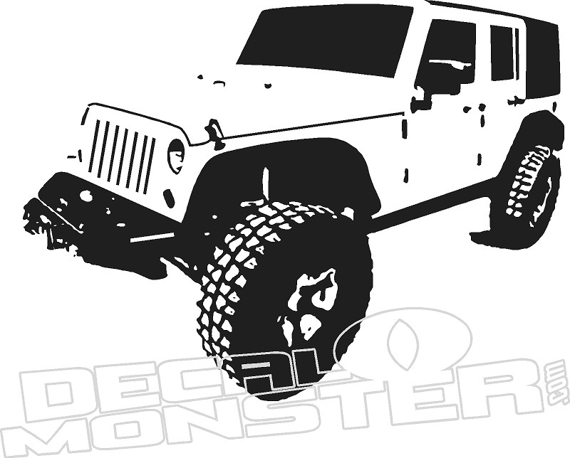 jeep1 silhouette wall decal dm